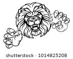 a lion angry animal esports... | Shutterstock . vector #1014825208