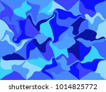 abstract curved geometric... | Shutterstock .eps vector #1014825772