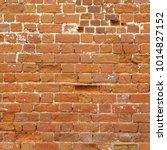 Old Dark Brown Tone Brick Wall...