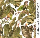 seamless watercolor pattern... | Shutterstock . vector #1014828652