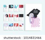 calendar 2018. abstract modern... | Shutterstock . vector #1014831466