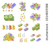 various kind of money and... | Shutterstock .eps vector #1014835588