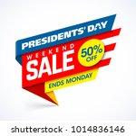 presidents' day sale banner... | Shutterstock .eps vector #1014836146