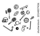 doodle sport objects | Shutterstock .eps vector #1014837436