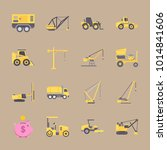 icons construction machinery... | Shutterstock .eps vector #1014841606