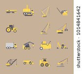 icons construction machinery... | Shutterstock .eps vector #1014841642