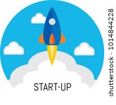 start up design with flat... | Shutterstock .eps vector #1014844228
