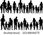 vector silhouette of family. | Shutterstock .eps vector #1014844675