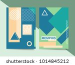 memphis style cards. collection ... | Shutterstock .eps vector #1014845212