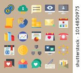icons marketing with exchange ... | Shutterstock .eps vector #1014850975
