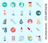 icons about medical with... | Shutterstock .eps vector #1014853636