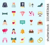 icons about wedding with...   Shutterstock .eps vector #1014853666