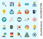 icons about marketing with... | Shutterstock .eps vector #1014853708