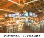 blurred open space sport bar...   Shutterstock . vector #1014853855