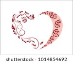 Red Pink Lacy Heart  Pattern ...