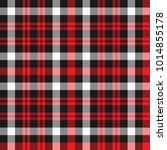 red and black tartan. seamless... | Shutterstock .eps vector #1014855178