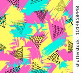 colorful seamless pattern from... | Shutterstock .eps vector #1014858448