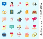 icons about wedding with...   Shutterstock .eps vector #1014859306
