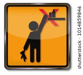 danger and warning please keep... | Shutterstock . vector #1014859846