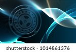 blue background with gear... | Shutterstock . vector #1014861376