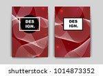 dark red vector brochure for ui ...