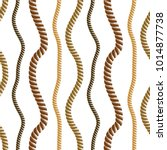 seamless nautical rope pattern... | Shutterstock .eps vector #1014877738