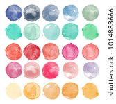 set of watercolor shapes.... | Shutterstock .eps vector #1014883666