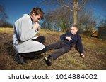 older man fell while running in ...   Shutterstock . vector #1014884002