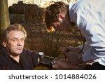 older man fell while running in ...   Shutterstock . vector #1014884026