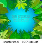 leaves of tropical plants....   Shutterstock .eps vector #1014888085