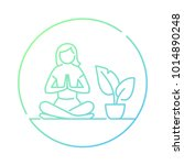 meditation or meditate vector... | Shutterstock .eps vector #1014890248