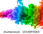 ink in water isolated on white... | Shutterstock . vector #1014893065