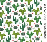 seamless pattern with cacti ... | Shutterstock .eps vector #1014897145