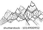 tops  mountain slopes  mountain ... | Shutterstock .eps vector #1014900952