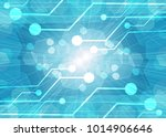 computer motherboard on a blue... | Shutterstock . vector #1014906646