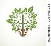 tree brain concept  the wisdom... | Shutterstock .eps vector #1014907255