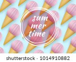summertime  ice cream cone... | Shutterstock .eps vector #1014910882
