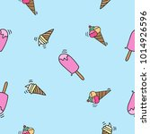seamless doodle ice cream... | Shutterstock .eps vector #1014926596