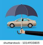 hand with umbrella that... | Shutterstock .eps vector #1014933805