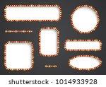 vector frame with light effect. ... | Shutterstock .eps vector #1014933928