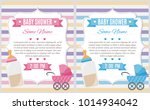 set of baby shower invitation... | Shutterstock .eps vector #1014934042