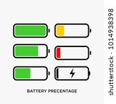 battery indicator vector... | Shutterstock .eps vector #1014938398