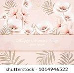 vector happy women day card... | Shutterstock .eps vector #1014946522