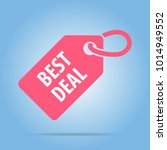best deal tag. red color.... | Shutterstock .eps vector #1014949552