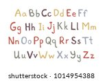 hand drawn vector letters. ... | Shutterstock .eps vector #1014954388