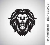 angry lion roaring logo vector | Shutterstock .eps vector #1014961978