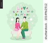 love  spring  bench lettering   ...   Shutterstock .eps vector #1014962512