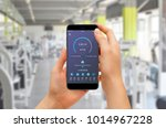 girl checking progress with...   Shutterstock . vector #1014967228