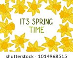 it's spring time. hand drawn... | Shutterstock .eps vector #1014968515