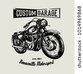 hand drawn motorcycle poster. | Shutterstock .eps vector #1014969868